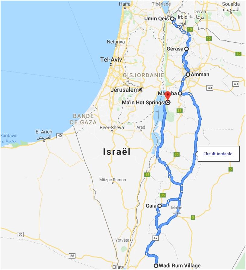 Jordanie - Circuit - Itinéraire - 2020