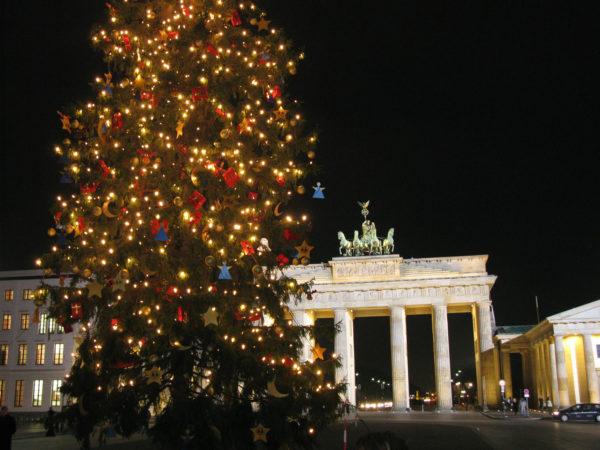 berlin - porte bandenburg - noel