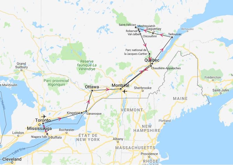 canada - nature et découverte - circuit - itinéraire
