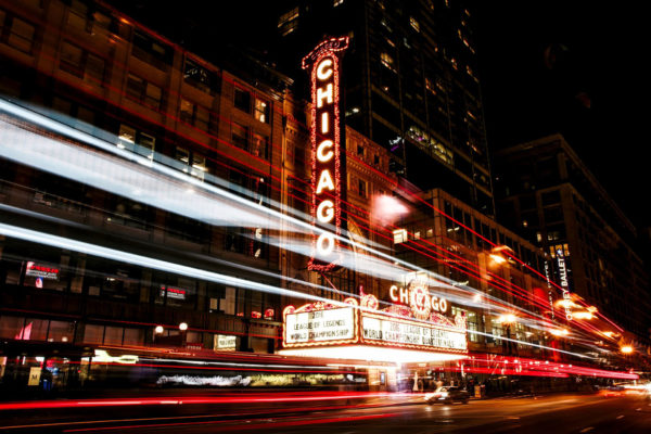 Chicago - enseigne théâtre