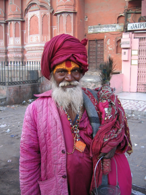 Rajasthan - homme en rose