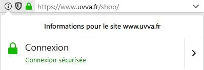 sécurité HTTPS via Gandi - site uvva.fr