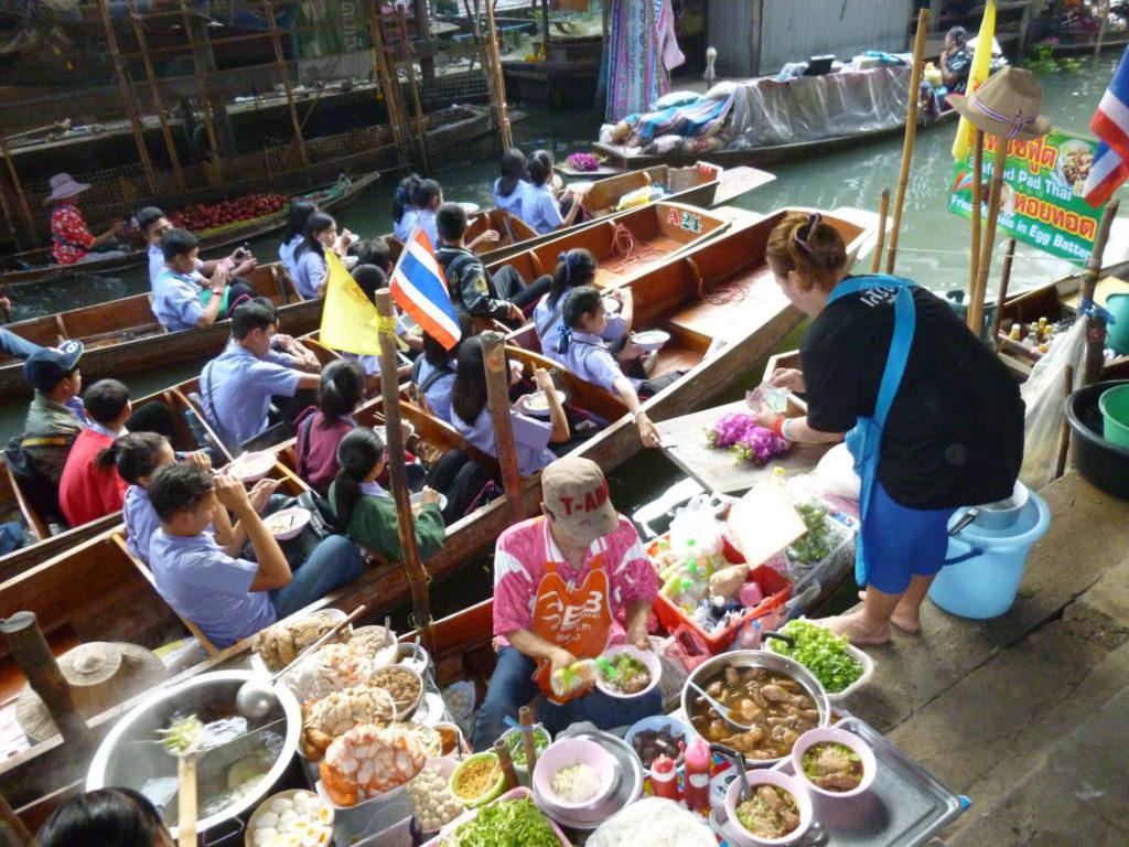 marché flottant - Bangkok - thailande