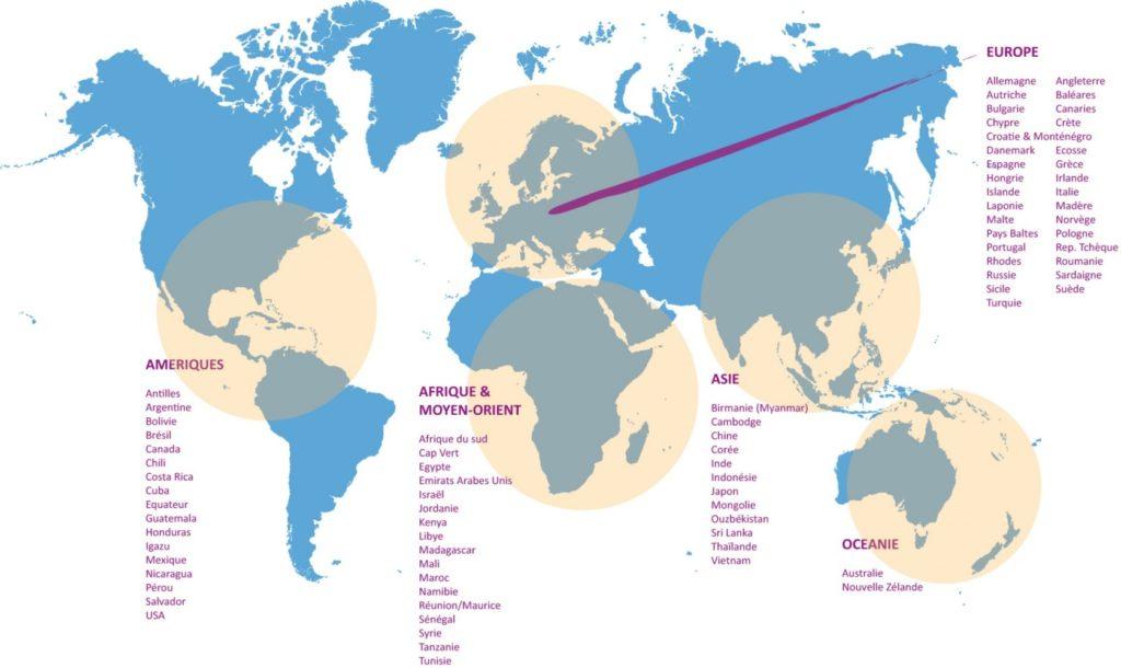 Carte du monde UVVA